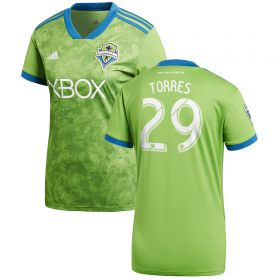 Seattle Sounders Home Shirt 2018 - Womens with Torres 29 printing