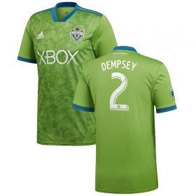 Seattle Sounders Home Shirt 2018 with Dempsey 2 printing