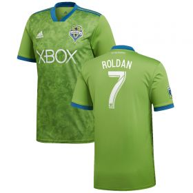 Seattle Sounders Home Shirt 2018 with Roldan 7 printing