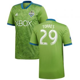 Seattle Sounders Home Shirt 2018 with Torres 29 printing