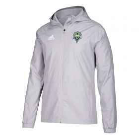 Seattle Sounders Rain Jacket - Lt Grey