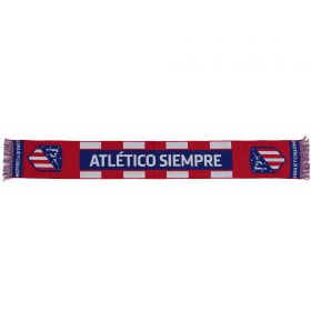 Atletico de Madrid Always Blue Scarf - Red - Adult