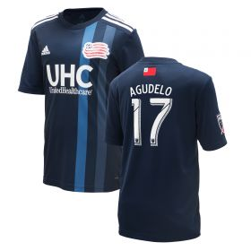 New England Revolution Home Shirt 2018 - Kids with Agudelo 17 printing