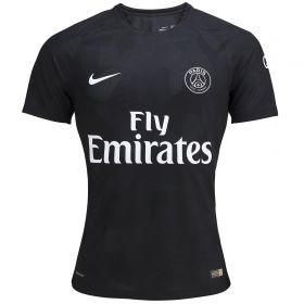 Paris Saint-Germain Third Vapor Match Shirt 2017-18 with Aurier 19 printing
