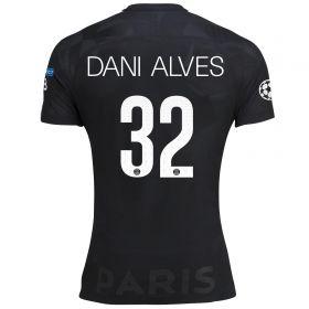 Paris Saint-Germain Third Vapor Match UCL Shirt 2017-18 with Dani Alves 32 printing