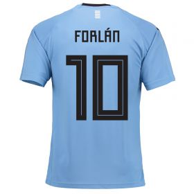 Uruguay Home Legends Shirt 2018 with Forlán 10 printing