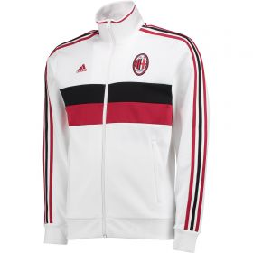 AC Milan 3 Stripe Track Top - White