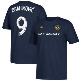 LA Galaxy Zlatan Ibrahimovic Name & Number T-Shirt - Navy