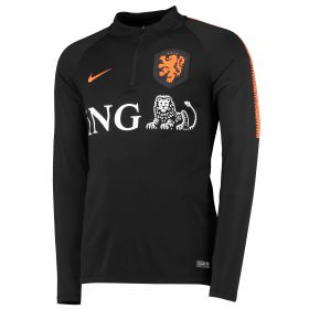 Netherlands Squad Drill Top - Black