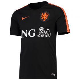 Netherlands Squad Training Top - Black