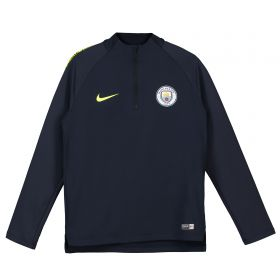 Manchester City Squad Drill Top - Dark Blue - Kids