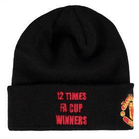 Manchester United New Era FA Cup Winners Basic Cuff Hat - Black - Adult