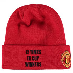 Manchester United New Era FA Cup Winners Basic Cuff Hat - Red - Adult