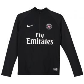 Paris Saint-Germain Squad Drill Top - Black - Kids