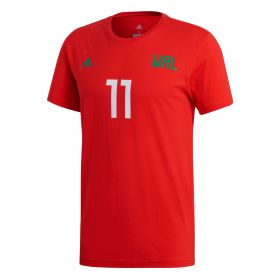 adidas Gareth Bale Name And Number T-Shirt - Red