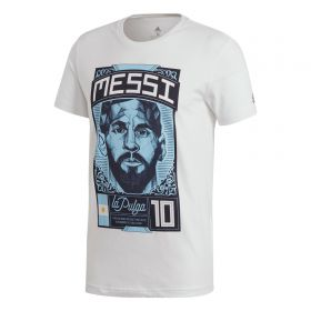 adidas Lionel Messi Graphic T-Shirt - White - Kids