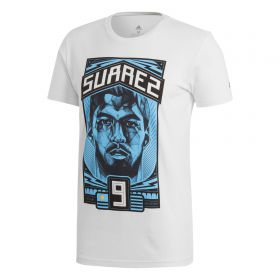 adidas Luis Suarez Graphic T-Shirt - White