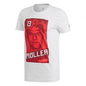 adidas Thomas Mueller Graphic T-Shirt - White