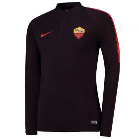 AS Roma Squad Drill Top - Burgundy