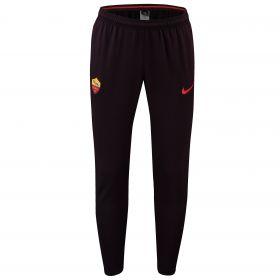 AS Roma Squad Training Pants - Burgundy