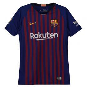 Barcelona Home Stadium Shirt 2018-19 - Kids with Suárez 9 printing