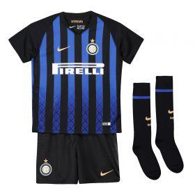 Inter Milan Home Stadium Kit 2018-19 - Little Kids with Vecino 11 printing