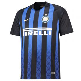 Inter Milan Home Stadium Shirt 2018-19 with Vecino 11 printing
