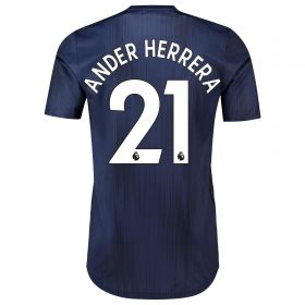 Manchester United Third Adi Zero Shirt 2018-19 with Ander Herrera 21 printing