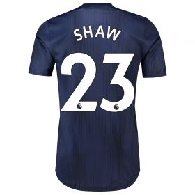 Manchester United Third Adi Zero Shirt 2018-19 with Shaw 23 printing