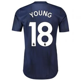 Manchester United Third Adi Zero Shirt 2018-19 with Young 18 printing