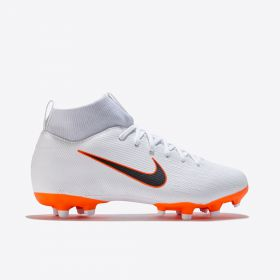 Nike Mercurial Superfly 6 Academy Multi-Ground Football Boots - White - Kids