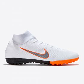 Nike MercurialX Superfly 6 Academy Astroturf Trainers - White