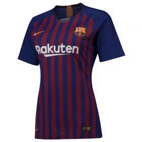 Barcelona Home Stadium Shirt 2018-19 - Womens with Messi 10 printing