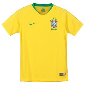 Brazil Home Stadium Shirt 2018 - Kids with Fred 18 printing