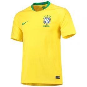 Brazil Home Stadium Shirt 2018 with Marcelo 12 printing