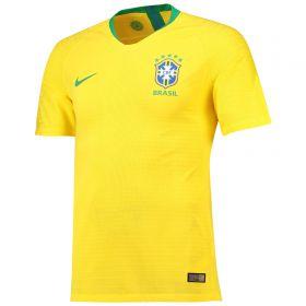 Brazil Home Vapor Match Shirt 2018 with Miranda 3 printing