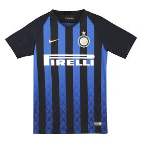 Inter Milan Home Stadium Shirt 2018-19 - Kids with Vecino 11 printing