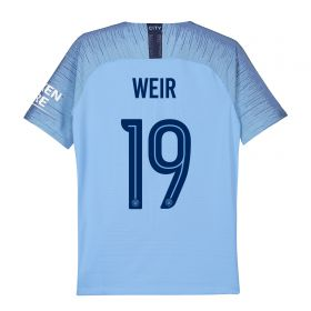Manchester City Home Cup Stadium Shirt 2018-19 - Kids with Weir 19 printing