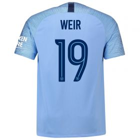 Manchester City Home Cup Stadium Shirt 2018-19 with Weir 19 printing