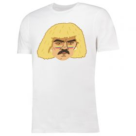 Mundial Carlos Valderrama El Pibe T-shirt - White