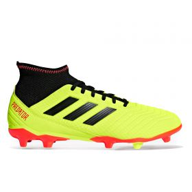 adidas Predator 18.3 Firm Ground Football Boots - Yellow