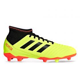 adidas Predator 18.3 Firm Ground Football Boots - Yellow - Kids