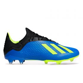 adidas X 18.2 Firm Ground Football Boots - Blue