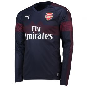 Arsenal Away Shirt 2018-19 - Long Sleeve with Monreal 18 printing