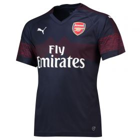 Arsenal Away Shirt 2018-19 with Monreal 18 printing
