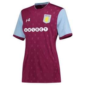 Aston Villa Home Shirt 2017-18 - Womens with Grabban 45 printing