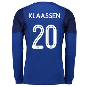 Everton Home Cup Shirt 2017/18 - Long Sleeved with Klaassen 20 printing