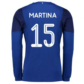Everton Home Cup Shirt 2017/18 - Long Sleeved with Martina 15 printing