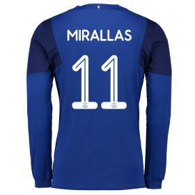 Everton Home Cup Shirt 2017/18 - Long Sleeved with Mirallas 11 printing