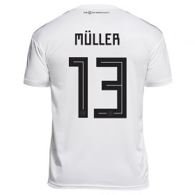 Germany Home Legends Shirt 2018 with Müller 9 printing